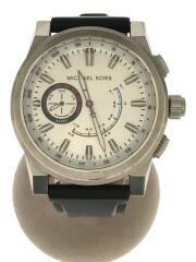 GRAYSON/MKT4009/クォーツ腕時計/アナログ/ラバー/ホワイト/ハイブリッドスマートウォッチ