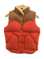 hristy vest/450-442-70010/ダウンベスト/9/10/レザー/オレンジ