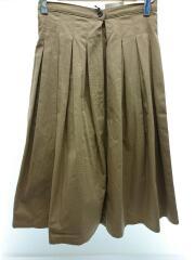 グランマママドーター/1/コットン/ベージュ/チノプリーツスカート/タックフレアスカート/GK001-301
