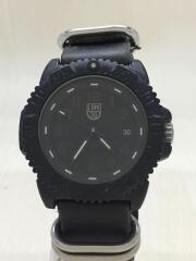 ルミノックス/クォーツ腕時計/アナログ/レザー/ブラック/3050/3950