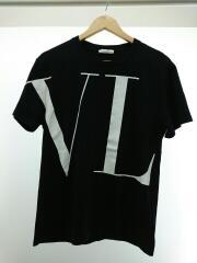 Tシャツ/M/コットン/ブラック/SV3MG14D57F/マクロVLTN/イニシャルロゴ プリント