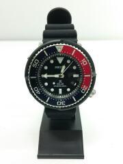 セイコー/クォーツ腕時計/アナログ/ラバー/ブラック/V147-0AZ0/ソーラークォーツ