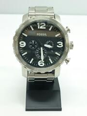 フォッシル/クォーツ腕時計/アナログ/ステンレス/ブラック/箱付き