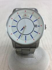 腕時計/アナログ/ステンレス/WHT/SLV