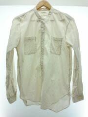 長袖シャツ/2/コットン/ホワイト/PMAB-LS02/バンドカラーシャツ/襟元、袖元汚れ有り