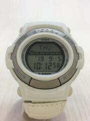クォーツ腕時計・G-SHOCK/デジタル/WHT/WHT