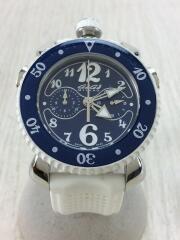 クォーツ腕時計/アナログ/ラバー/NVY/WHT GaGa MILANO ガガミラノ ネイビー