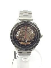 自動巻腕時計/アナログ/ステンレス/BLK MICHAEL KORS マイケルコース ブラック//  MERRICK バックスケルトン タキメーター MK-9037