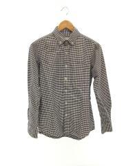 キンガムチェックシャツ/S/コットン/ネイビー/BA61SH0018TO