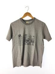 Tシャツ/M/コットン/GRY/プリント BRUNABOINNE ブルーナボイン グレー