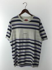 20SS/Blocked Stripe S/S Top/Tシャツ/M/コットン/WHT/ボーダー