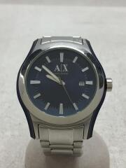 クォーツ腕時計/アナログ/ステンレス/ブルー/シルバー/AX2074