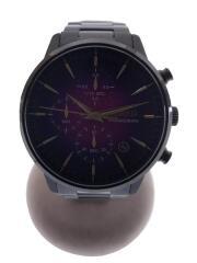 クォーツ腕時計/アナログ/ステンレス/PUP/BLK