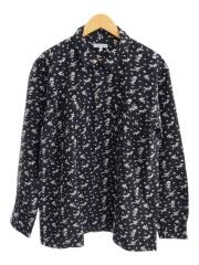 19AW/Dayton Shirt/Floral Jacquard/長袖シャツ/M/コットン/ブラック/花柄