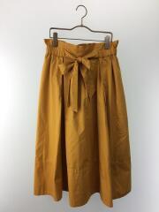 ダンプ製品染め切替スカート/FREE/コットン/YLW/90-01-sk-001-17-1