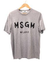 ロゴプリント/Tシャツ/S/コットン/GRY/無地/1000MM97