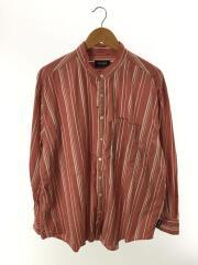 CHAVO バンドカラーシャツ/長袖シャツ/M/コットン/PNK/ストライプ/20050464017010