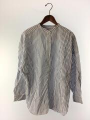 20SS/マーセビッグスタンドシャツ/長袖シャツ/M/コットン/BLU/ストライプ/S201DA02AD