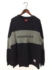 2019AW/Mindfuck L/S Top/スレ有/長袖Tシャツ/L/コットン/BLK