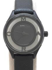 クォーツ腕時計/アナログ/フェイクレザー/BLK/BLK/MBM1384