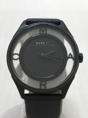 クォーツ腕時計/アナログ/フェイクレザー/BLK/BLK/MBM1379