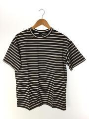 BORDER S/S TEE/Tシャツ/S/コットン/BLK/ボーダー