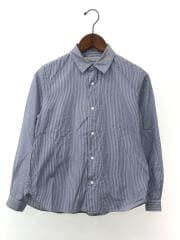 スナップボタンシャツ/S/コットン/BLU/ストライプ/151991