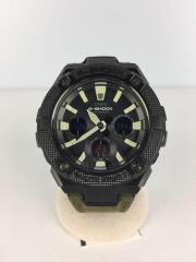 G-SHOCK/ソーラー腕時計/デジアナ/キャンバス/BLK/KHK/GST-S130BC