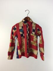 ヴィンテージシャツ/縮み/シャツ/S/ウール/RED/GK-B026
