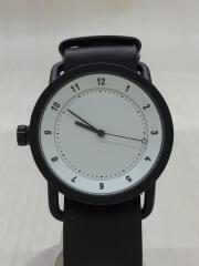 TID WATCHES/クォーツ腕時計/アナログ/レザー/WHT/BRW