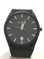 クォーツ腕時計/アナログ/ステンレス/BLK/SKW6009