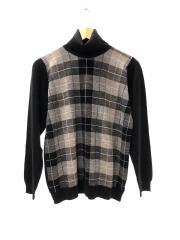 セーター(薄手)/M/ウール/マルチカラー/チェック/タグホツレ有