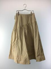 19SS/ななめ切替ヘムラインスカート/1/ポリエステル/BEG/09WFS191059