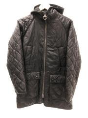 フーデッドキルティングジャケット/36/ポリエステル/BLK/1602099