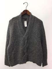 ショールカラーセーター(薄手)/S/アルパカ/GRY/01-1301798
