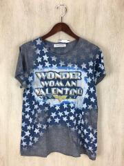 ヴァレンティノ/Star Studded/Tシャツ/L/コットン/グレー/総柄/LB2MG02U2N3