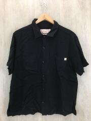 ビーミング×ユニバーサルオーバーオール/開襟/半袖シャツ/U813168BM/M/レーヨン/BLK