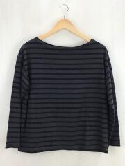 長袖Tシャツ/1/コットン/ブラウン/ボーダー/61646-JS