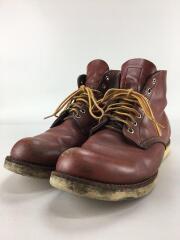 ブーツ/28cm/ブラウン/レザー/9105/PLAIN TOE