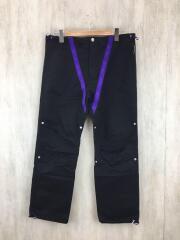 ボトム/S/コットン/ブラック/G01PT252/MYne tape nylon pants