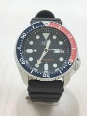自動巻腕時計/アナログ/ラバー/ブラック