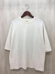 Tシャツ/3/コットン/クリーム/SUPER HARD TWIST KNIT BIG TEE/A8SP02HT
