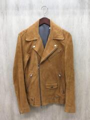 ダブルライダースジャケット/2/山羊革/キャメル/0010090002