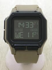 クォーツ腕時計/デジタル/ラバー/ブラック/ベージュ/A11802711/regulus