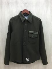 長袖シャツ/S/アンゴラ/カーキ