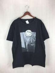 ゴッドセレクショントリプルエックス/フォトスマイルTシャツ/XXL/コットン/黒