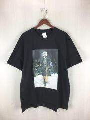 ゴッドセレクショントリプルエックス/スマイルランウェイTシャツ/XL/コットン/黒