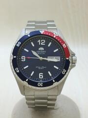 オリエント/自動巻腕時計/アナログ/ステンレス/ネイビー×シルバー/AA02-C5-B