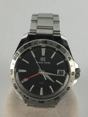 クォーツ腕時計/9F86-0AB0/GMT/Sport Collection/ステンレス/BLK/SLV/セカスト