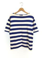 Tシャツ/M/コットン/ブルー/ボーダー/セントジェームス